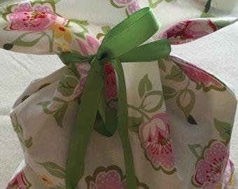 Floral Lingerie Bag/Shoe Bag/Travel Bag