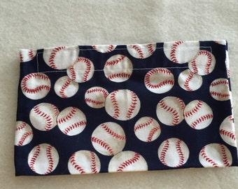 Eco-Friendly Reusable Snack Bag - Baseballs