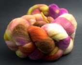 x197, Targhee Top Wool, Hand Dyed Roving, Woods, spinning, felting, fiber,85g