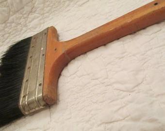 Vintage Paint Brush Large Wood Handle SALE
