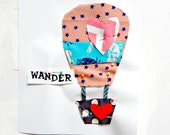 Teen Sewing Kit Hot Air Balloon Sew a Pillow Sew a Wall Hanging 10x10 Beginner Sewing Kit Gift Idea for Valentines Day