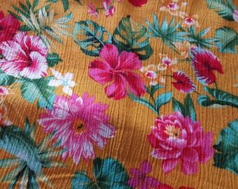 Tropical Hawaiian Cotton Gauze Crinkle 2yd