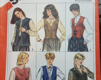 Semi Fitted Weskit Vest lapel options 18 20 simplicity 5709