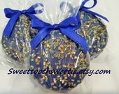 Royal Prince Chocolate Covered Oreos Cookies Blue and Gold Baby Shower Favors Boy Baptism Cookie Sweet 16 Blue and Gold Wedding Favors Gift