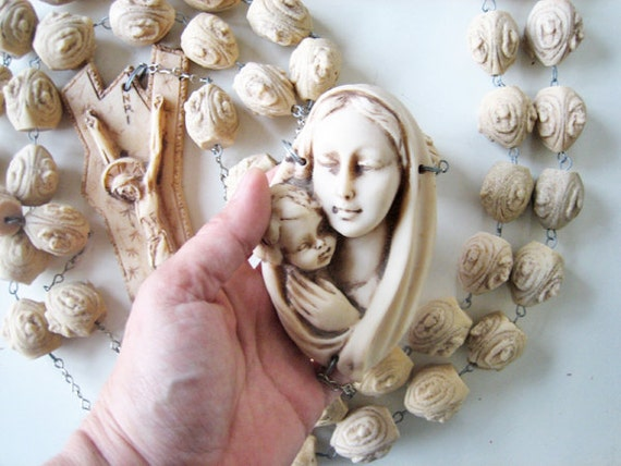 Antique Large Rosary French Rosary Wall Hanging Rosary