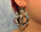 Spiral Gear Mirror Acrylic earrings