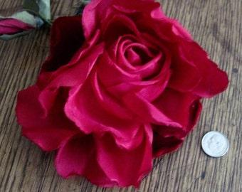 Vintage Millinery Silk Rose Circa 1950