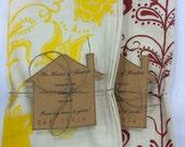 Tea Towels/Handmade/Hand-Printed Tea Towels/2 pack/Germanic Motif/Maine Made/fair trade/FREE SHIPPING
