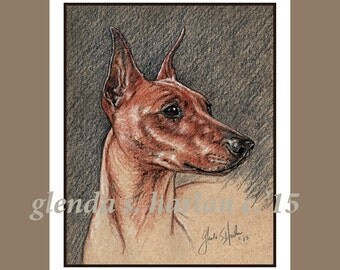 German Pinscher Dog Fine Art Note Cards - EIGHT PACK