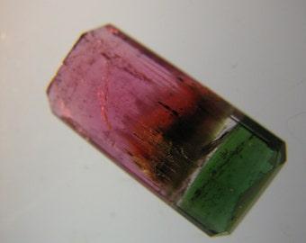 Faceted Watermelon Tourmaline Gemstone - 5 carats