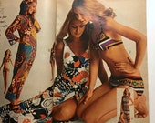 RESERVED - Sears Catalogue 1971 Summer - Shelly Hack Cheryl Tiegs Early Modeling Days - Fashion Home Exercise - Vintage 1970s Cool