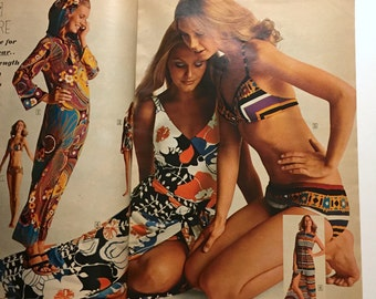 Sears Catalogue 1971 Summer - Shelly Hack Cheryl Tiegs Early Modeling Days - Fashion Home Exercise - Vintage 1970s Cool