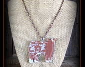 Shorthorn Show Steer Glass Pendant With Chain