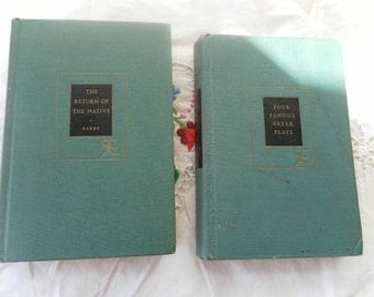 Pair of Modern Library Classics Hardy and  Four Greek Plays 1920s