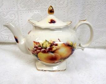 Fruit Design Teapot Etsy
