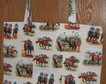 Ivory horse racing bag