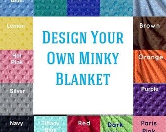 Personalized Baby Blanket-  Minky Baby Blanket - You Choose Design Your Own