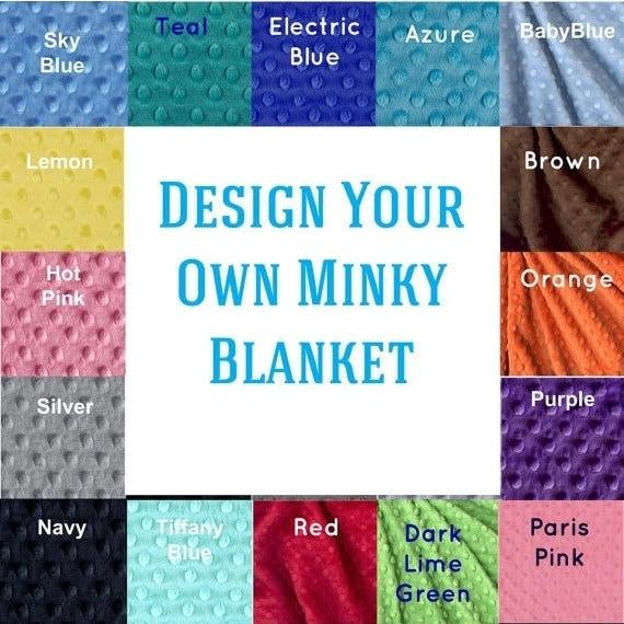 Personalized Baby Blanket-  Minky Baby Blanket -  Custom Baby Blanket / Baby Shower Gift / Name Blanket / Stroller Blanket