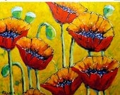 Year End Sale Abstract Sweet Poppies - Floral Oil Painting Scene -  created by Prankearts