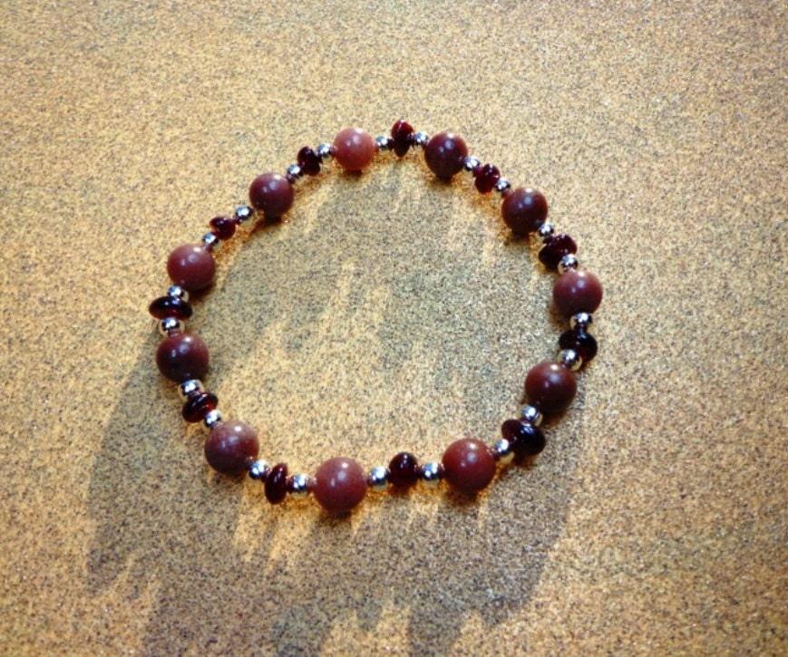 Purple Aventurine Bracelet Garnet...