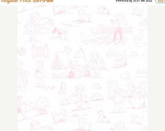 SALE Fog City Kitty by Lakehouse Garden Toile in Coral one yard