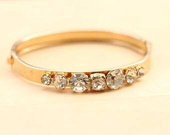 Vintage Crystal Cuff Bracelet