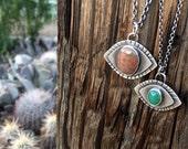 Ocean Jasper Eye Necklace Large