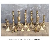 Reserved for c - Candlesticks - Brass Candlesticks - Candle Holders - Candleholders - Bohemian Decor - Holiday Decorating - Jungalow CHIC