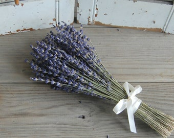Six Each Dried Lavender Bridesmaid Bouquets  / Wedding Bouquets /  French Lavender Bouquet / Lavender Bunch