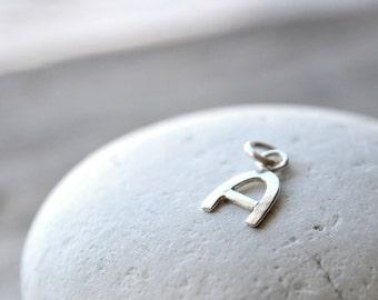 Letter Charm sterling silver,  ONE custom initial, handmade