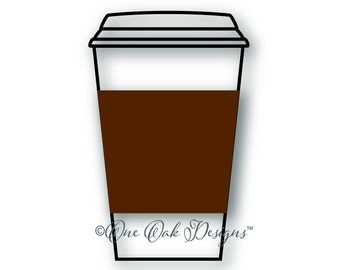 Coffee Cup SVG File, DXF, PDF, ai, eps, png, jpg  svg File for Cameo V2 & V3 svg File for Cricut and other electronic cutters