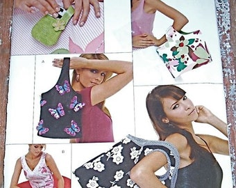 Pattern New Look 6574 Purse Bag Handbag Uncut Factory folded Phone Case Storage Diaper Bag Sewing Sew Handmade Fast Simple Easy Organization