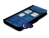 Blue Police Call Box Wallet Case for iPhone
