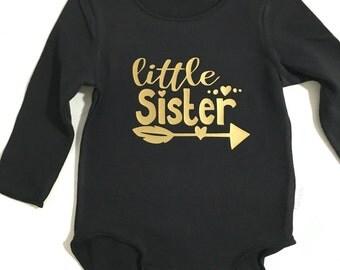 Onesie//Printed Onesie//Little Sister