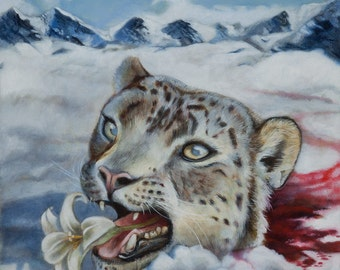 Everyone is replaceable - snow leopard painting