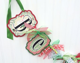 Be Merry Banner Christmas Decor Garland Party Decoration