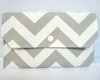 Cash Envelope Budget Use for the Dave Ramsey System or Coupon Organizer - Gray and White Chevron Zig Zag