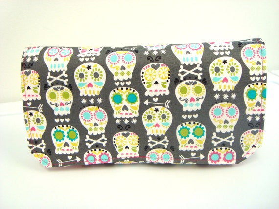Coupon Organizer / Budget Organizer Holder  - Attaches To Your Shopping Cart- Bone Head on Gray