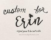 Custom HandLettering for Erin