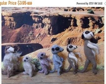 HALF PRICE SALE knitting pattern only-Meerkat Family toy animal pdf download knitting pattern
