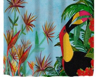 Tropical Toucan Tropical WildBird Art Shower Curtain