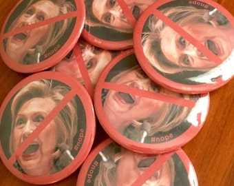 "I'm NOT with her - Anti Hillary button - 2 1/4"" button"