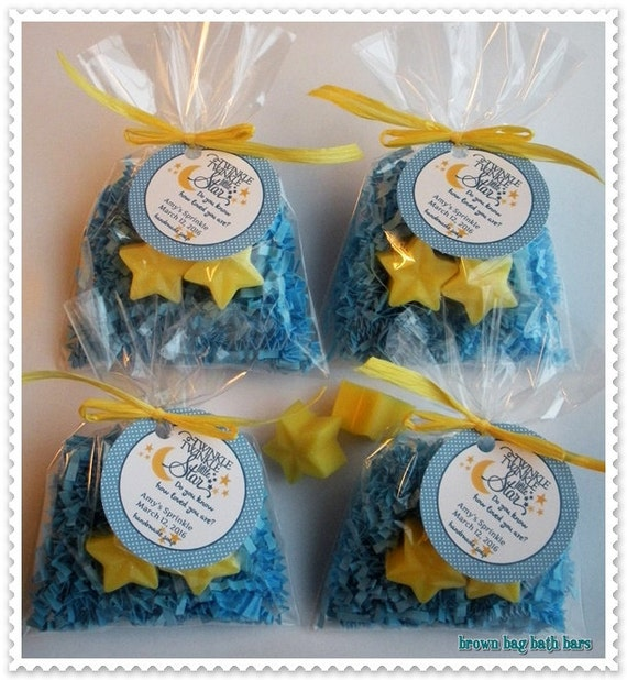 Twinkle Twinkle Little Star Favors Nursery Rhyme Baby Shower I Love You to the Moon and Back Shower (20 complete favors with tags-40 soaps)