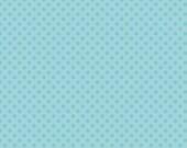 Riley Blake Fabric Aqua Tone on Tone Small Dots Polka Dots, Choose your cut