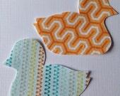 2 Small Fabric Iron On Duck Appliqués