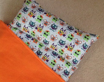Personalized Nap Mat, Great for daycare, preschool or kindergarten, boys. Happy Monsters