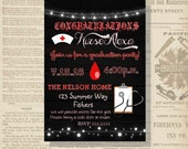 Digital Rustic Style Nurse Graduation Party Invitation You Print Printable | Party Pack Available