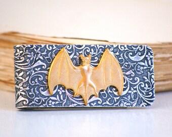 Bat Money Clip Silver Money Clip Gold Vampire BAT Groomsmen Vintage Wedding VAMPIRE  Credit Card Holder Batman Gothic Halloween Bat
