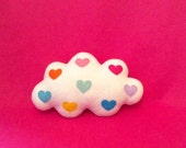 SALE Cloud Cushion - Cloud Felt Plush Mini Pillow - Cute Cloud - White Cloud Pillow - Nursery Decor - Cloud Cushion - Mothers Day Gift