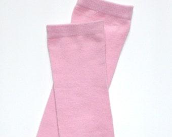 Newborn Pink Bamboo Baby Leg Warmers